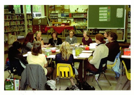 At Port McNeill Pamela Proctor leads a workshop for primary teachers in the Vancouver Island North School District No. 85